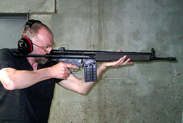 Firing test on Bunkerkit with HK-G3