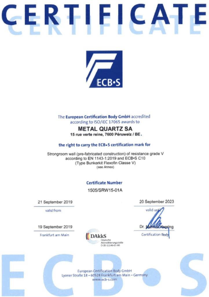 Certificat ECBS