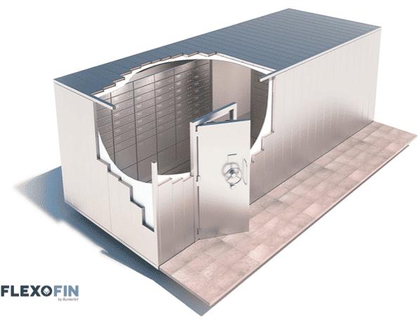 Une chambre forte modulaire & adaptable à vos bâtiments - Bunkerkit